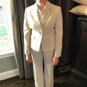 Antonio Melani Cream pinstripe suit